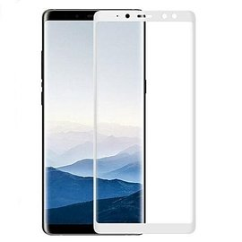 Merkloos Samsung Galaxy A8 2018 full cover Screen Protector-9H HD clarity Hardness Tempered Glass Wit