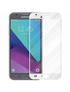 Merkloos Samsung Galaxy J5 2017 full cover Screenprotector Tempered Glass Wit