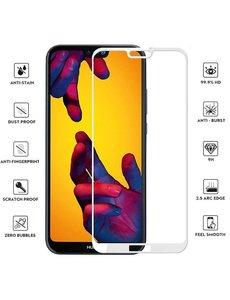 Merkloos Huawei P20 Lite full cover Screenprotector Tempered Glass Black