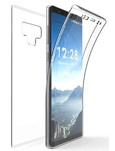 Merkloos Samsung Galaxy Note 9 Dual TPU Case hoesje 360° Cover 2 in 1 Case ( Voor en Achter) Transparant