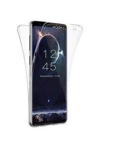 Merkloos Samsung Galaxy A7 (2018) Dual TPU Case hoesje 360° Cover 2 in 1 Case ( Voor en Achter) Transparant