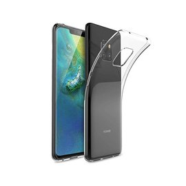 Merkloos Huawei Mate 20 Pro Dual TPU Case hoesje 360° Cover 2 in 1 Case ( Voor en Achter) Transparant