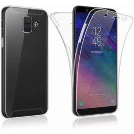 Merkloos Samsung Galaxy J6+ Plus (2018) Dual TPU Case hoesje 360° Cover 2 in 1 Case ( Voor en Achter) Transparant