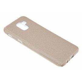 Merkloos Samsung Galaxy J6+ Plus  (2018) Goud Glitter TPU Back Cover Hoesje