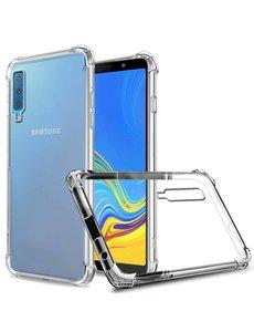 Merkloos Samsung Galaxy A7 2018 Anti Shock Back hoesje