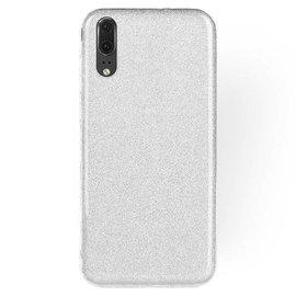 Merkloos Samsung Galaxy A7 (2018) Zilver Glitter TPU Back Cover Hoesje