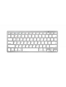 Merkloos Bluetooth 3.0 Keyboard-Toetsenbord voor Smart TV / PC / PS4 / iPad / Tablet / Smartphone Wit