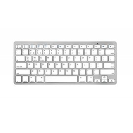 Merkloos Bluetooth 3.0 Keyboard-Toetsenbord voor Smart TV / PC / PS4 / iPad / Tablet / Smartphone Wit