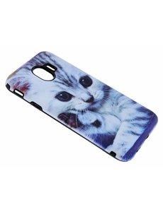 Merkloos Samsung Galaxy J4 Katje Design 3D Dual Layer backcover