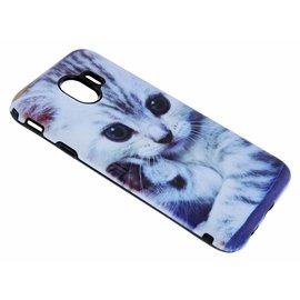 Merkloos Samsung Galaxy J4 Katje Design 3D Dual Layer Back Cover
