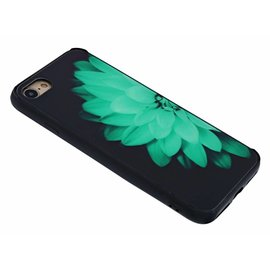 Merkloos iPhone 8 / 7 Waterlelie Glow in the Dark / Neon Back Cover TPU Hoesje