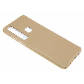 Merkloos Samsung Galaxy A9 (2018) Goud Glitter TPU Back Cover Hoesje