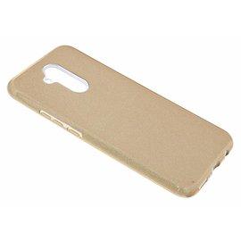 Merkloos Huawei Mate 20 lite Goud Glitter TPU Back Cover Hoesje