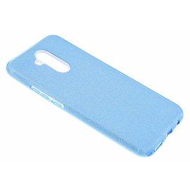 Merkloos Huawei Mate 20 lite Blauw Glitter TPU Back Cover Hoesje