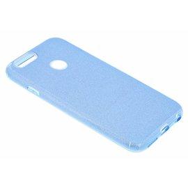 Merkloos Huawei P Smart Blauw Glitter TPU Back Cover Hoesje