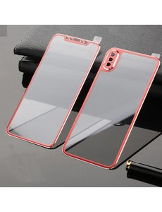 Merkloos iPhone X / Xs Front and Back Glass Full Cover Red