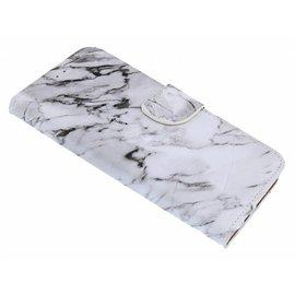 Merkloos Samsung Galaxy A7 (2018) Marmer Design Boek Hoesje Met Pasjesruimte & flapje