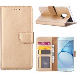 Hoesje voor Samsung Galaxy j2 Pro (2018) portemonnee hoesje / met opbergvakjes Goud