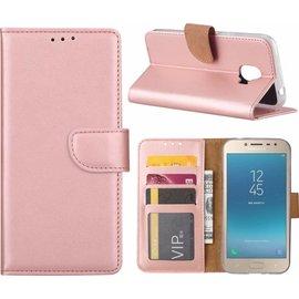 Hoesje voor Samsung Galaxy j2 Pro (2018) portemonnee hoesje / met opbergvakjes Rose Goud
