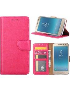 Hoesje voor Samsung Galaxy j2 Pro (2018) portemonnee hoesje / met opbergvakjes Roze