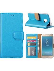 Hoesje voor Samsung Galaxy j2 Pro (2018) portemonnee hoesje / met opbergvakjes Blauw