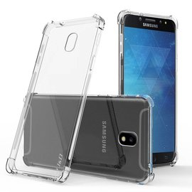 Samsung Galaxy J7 2018 Transparent Anti Burst Hoesje / Shock Proof Crystal Clear TPU Case