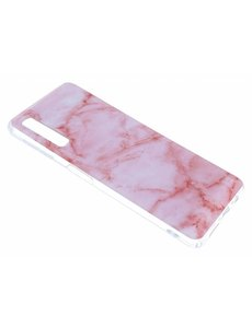 Merkloos Samsung Galaxy A7 (2018) Marmer Design Roze - backcover Hoesje