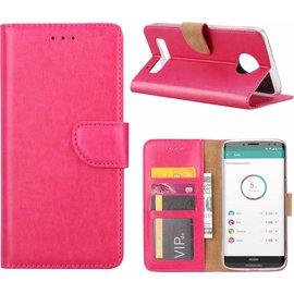 hoesje Pink book case style voor Motorola Moto Z3 Play wallet case