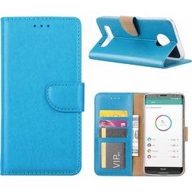hoesje Blauw book case style voor Motorola Moto Z3 Play wallet case