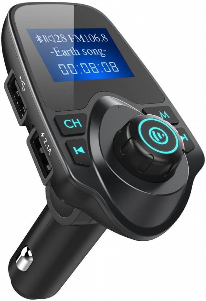 Wonderbaarlijk Draadloze Bluetooth Carkit met LED Display T11 inclusief FM ZS-09