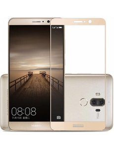Huawei Mate 10 lite full cover Curved Edge ultra clear HD clarity tempered glass Champagne Goud