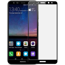 Huawei Mate 10 lite full cover Curved Edge ultra clear HD clarity tempered glass Zwart