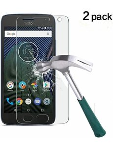 2 Pack - Moto G5 Plus 2017 Glazen tempered glass / Screenprotector (0.3mm)