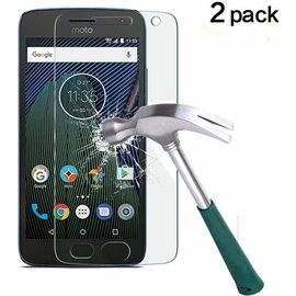 2 Pack -  Moto G5 Plus 2017 Glazen tempered glass / screen protector 2.5D 9H (0.3mm)