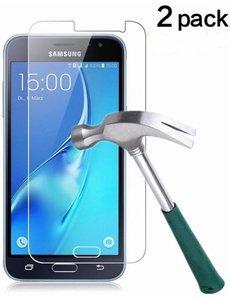 2 Pack - Samsung Galaxy J3 2016 Glazen tempered glass / Screenprotector