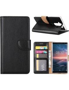 Nokia 8 Sirocco hoesje book case style / portemonnee case Zwart