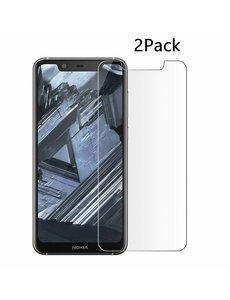 Ntech Ntech 2Pack Nokia 5.1 Plus Screenprotector Tempered Glass