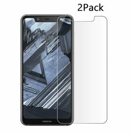 Ntech Ntech 2Pack Nokia 5.1 Plus Screen Protector-9H HD clarity Hardness Tempered Glass