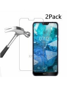 Ntech Ntech 2Pack Nokia 7.1 Screenprotector Tempered Glass