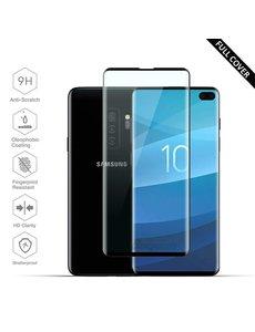 Ntech Ntech Samsung Galaxy S10+ (Plus) Scratch-Proof / Shatter-proof Full cover Screenprotector / Tempered Glass Zwart