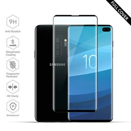 Ntech Ntech Samsung Galaxy S10+ (Plus) Scratch-Proof / Shatter-proof Full cover Screen Protector / Tempered Glass Zwart
