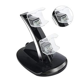 Zwart Oplaadstation Slim Dual Oplader voor Playstation 4 Controller