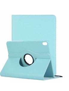 Ntech Ntech Apple iPad Pro 11 inch hoesje 360° Rotating hoesje Case + 4 in 1 Styuls Licht Blauw