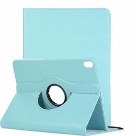 Ntech Ntech Apple iPad Pro 11 inch hoesje 360° Rotating  Multi stand Hoes Case + 4 in 1 Styuls Licht Blauw