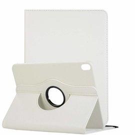 Ntech Ntech Apple iPad Pro 11 inch hoesje 360° Rotating  Multi stand Hoes Case + 4 in 1 Styuls Wit