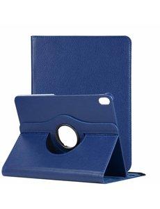 Ntech Ntech Apple iPad Pro 11 inch hoesje 360° Rotating hoesje Case + 4 in 1 Styuls Donker Blauw