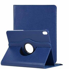 Ntech Ntech Apple iPad Pro 11 inch hoesje 360° Rotating  Multi stand Hoes Case + 4 in 1 Styuls Donker Blauw