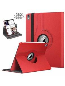 Ntech Ntech Apple iPad Pro 11 inch hoesje 360° Rotating hoesje Case + 4 in 1 Styuls Rood