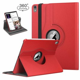 Ntech Ntech Apple iPad Pro 11 inch hoesje 360° Rotating  Multi stand Hoes Case + 4 in 1 Styuls Rood