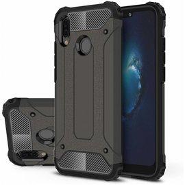 Ntech Huawei P20 Lite (2018) Dual Layer Hybrid Armor Hoesje - Zwart